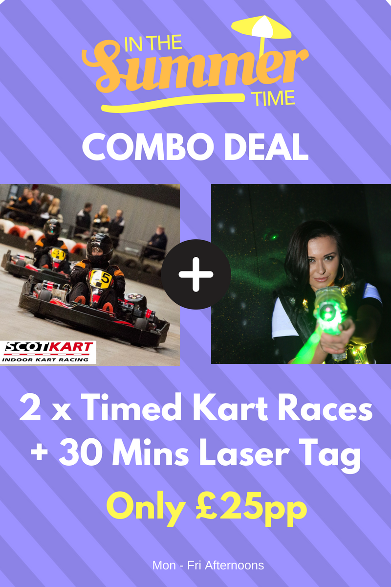 Glasgow Laser Tag and Go Karting Days Out Summer 2018