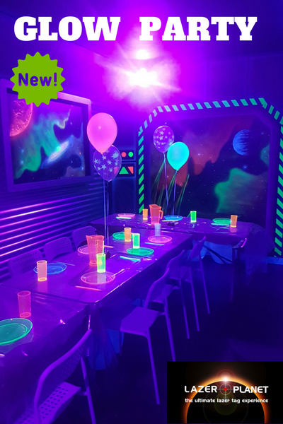 Glasgow laser tag | New glow in the dark birthday party room
